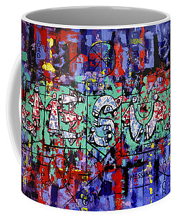 Coffee Mug featuring the painting Above All Names by Anthony Falbo