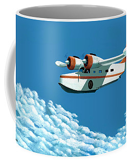 Coffee Mug featuring the painting Above It All  The Grumman Goose by Gary Giacomelli