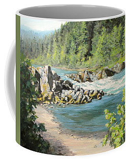 Above Swiftwater Coffee Mug