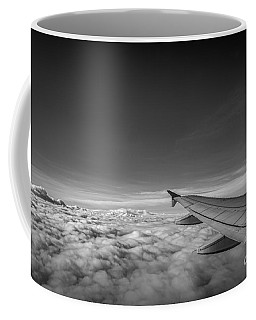 Above The Clouds Bw Coffee Mug by Michael Ver Sprill