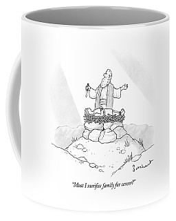 Abraham Is About To Sacrifice His Son Coffee Mug