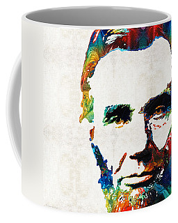 Abraham Lincoln Art - Colorful Abe - By Sharon Cummings Coffee Mug