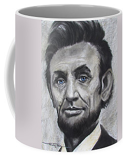 Coffee Mug featuring the drawing Abraham Lincoln by Eric Dee