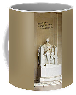 Abraham Lincolns Statue In A Memorial Coffee Mug