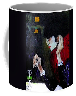 Absinthe Drinker After Picasso Coffee Mug