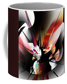 Coffee Mug featuring the digital art Abstract 082214 by David Lane