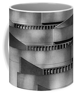 Coffee Mug featuring the photograph Abstract Balcony by Bill Gallagher
