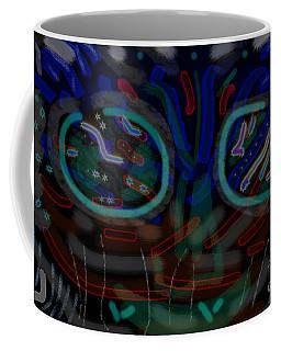 Abstract Black Blue Coffee Mug