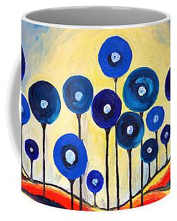 Abstract Blue Symphony  Coffee Mug by Ramona Matei