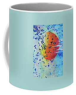 Coffee Mug featuring the painting Abstract by Chrisann Ellis
