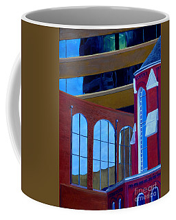 Abstract City Downtown Shreveport Louisiana Urban Buildings And Church Coffee Mug