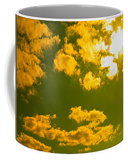 Coffee Mug featuring the photograph Abstract Clouds by Nick Kirby