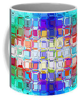 Coffee Mug featuring the digital art Abstract Color Blocks by Anita Lewis