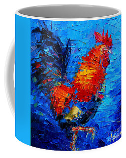 Abstract Colorful Gallic Rooster Coffee Mug