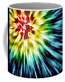 Abstract Dark Tie Dye Coffee Mug