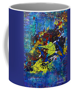 Coffee Mug featuring the painting Abstract Fish  by Claire Bull