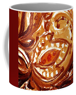 Abstract Floral Butterscotch And Chocolate Coffee Mug