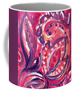 Abstract Floral Design Purple Note Coffee Mug