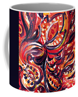 Abstract Floral Khokhloma Summer Breeze  Coffee Mug
