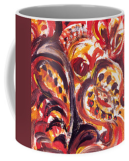 Abstract Floral Khokhloma Seed Pod Coffee Mug