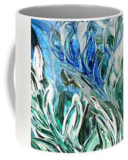 Abstract Floral Sky Reflection Coffee Mug