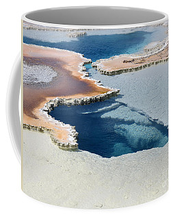 Abstract From The Land Of Geysers. Yellowstone Coffee Mug by Ausra Huntington nee Paulauskaite
