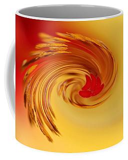 Abstract Swirl Hibiscus Flower Coffee Mug by Debbie Oppermann