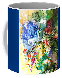 Abstract Horses Coffee Mug