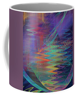 Abstract In Blue And Purple Coffee Mug