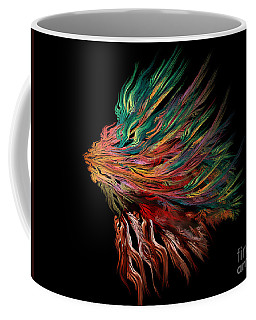 Abstract Lion's Head Coffee Mug by Klara Acel