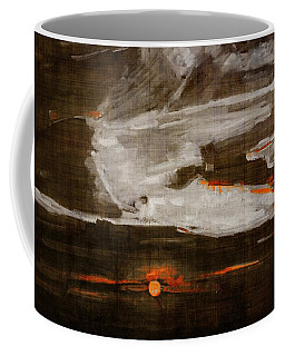 Abstract Motion Behind The Sunset Clouds Coffee Mug