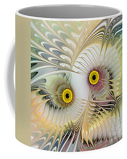 Abstract Owl Coffee Mug by Klara Acel