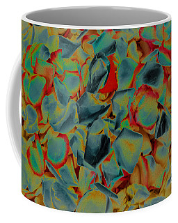 Coffee Mug featuring the photograph Abstract Rose Petals by Mae Wertz