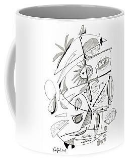 Abstract Pen Drawing Sixty-seven Coffee Mug