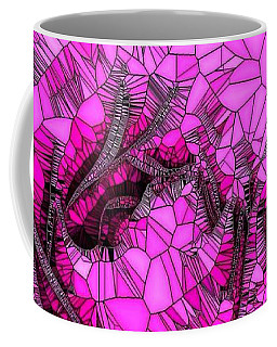 Abstract Pink Rose Mosaic Coffee Mug