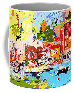 Abstract Portofino Italy Decorative Art Coffee Mug