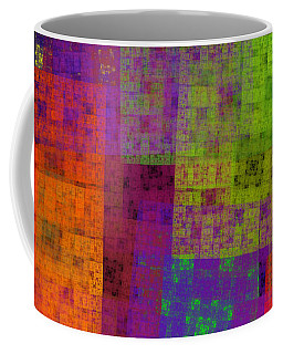 Abstract - Rainbow Bliss - Fractal - Square Coffee Mug