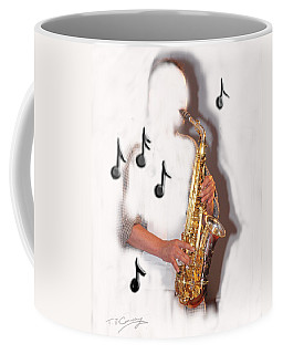 Abstract Saxophone Player Coffee Mug
