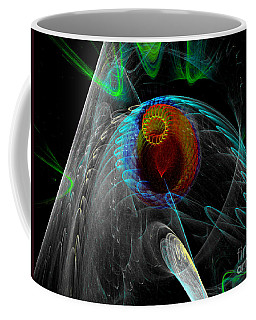 Coffee Mug featuring the digital art Abstract Sea Mouth by Russell Kightley