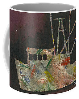 Abstract Shrimp Boat Coffee Mug
