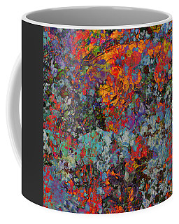 Coffee Mug featuring the mixed media Abstract Spring by Ally  White