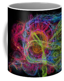 Coffee Mug featuring the digital art Abstract Virus Budding Painterly 1 by Russell Kightley