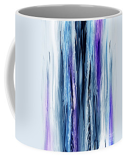 Abstract Waterfall Purple Flow Coffee Mug
