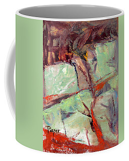 Abstract With Cadmium Red Coffee Mug