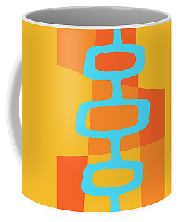 Abstract With Turquoise Pods 3 Coffee Mug