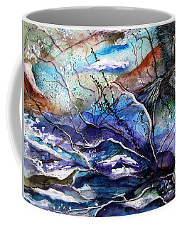 Abstract Wolf Coffee Mug by Lil Taylor