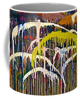 Abstracts 14 - Downtown With Umbrellas Coffee Mug