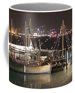 Coffee Mug featuring the photograph Abu Dhabi At Night by Andrea Anderegg