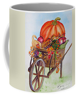 Coffee Mug featuring the painting Abundance  by Diane DeSavoy
