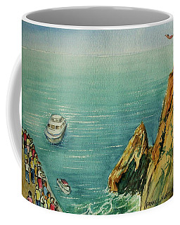 Acapulco Cliff Diver Coffee Mug by Frank Hunter